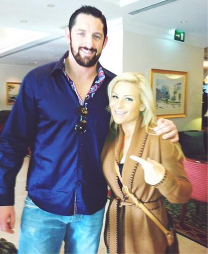 Wade Barrett and Natalya
