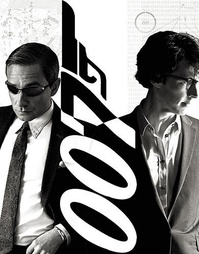 Watson as Bond & Sherlock as Q