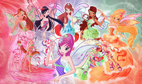 The Winx Club kertas dinding titled Winx Club Harmonix kertas dinding