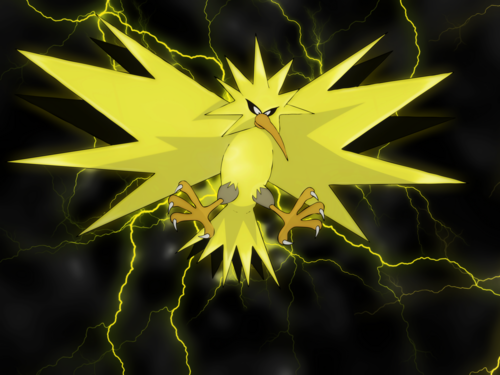 pokémon wallpaper probably containing a texas star, a canada lily, and an oriental papoula, papoila called Zapdos wallpaper