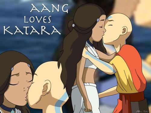 aang loves katara