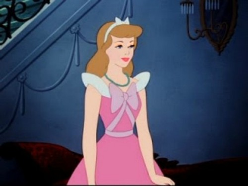 Cinderella wearing makeup