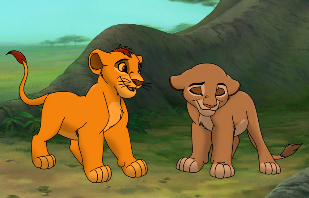 cub sarabi and mufasa