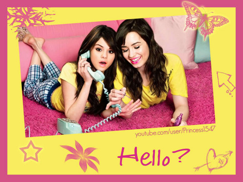 selena gomez dan demi lovato wallpaper with anime titled demi and selena wallpaper