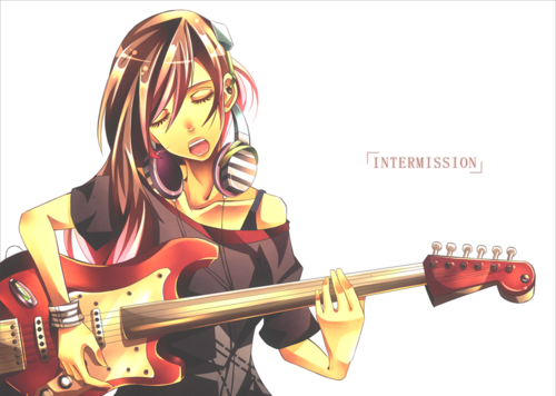 gitara anime girl