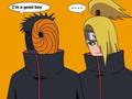 im a good boy - deidara-x-tobi photo