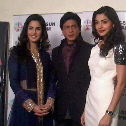 Katrina Kaif images kat,srk&anushka on sa re ga ma pa wallpaper and background photos
