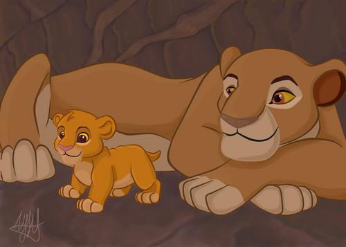 sarabi and simba cub