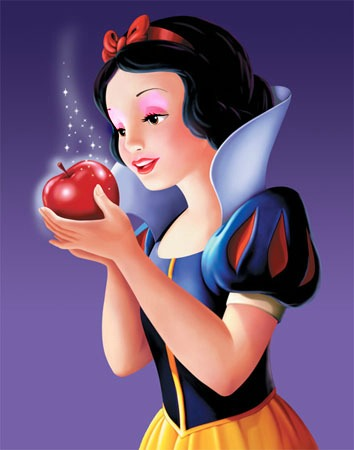 snow white wearing makeup