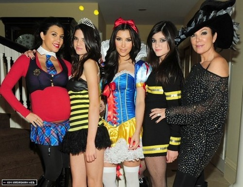 the old holloween costumes of the kardashians
