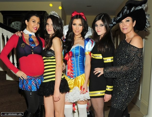 the old holloween costumes of the kardashians keeping up