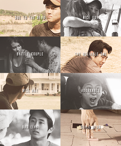 The Walking Dead Hintergrund with a sign and a straße titled The Walking Dead Character Tropes » Glenn Rhee