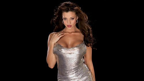 Candice Michelle 壁纸 containing a 晚餐 dress and a 袍, 礼服 titled 50 most beautiful people in Sports Entertainment: #22