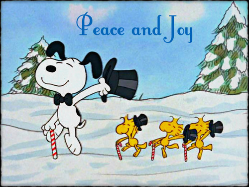 Christmas wallpaper probably with a sign entitled ★ Christmas with Snoopy ☆