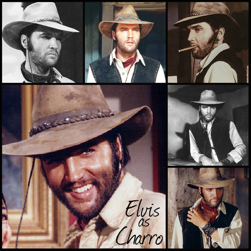elvis presley fondo de pantalla with a snap brim hat, a campaign hat, and a fedora entitled ★ Elvis in Charro ☆