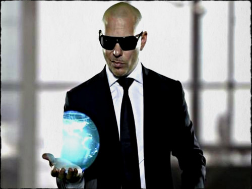 Pitbull Rapper Wallpaper Containing A Business Suit And Titled