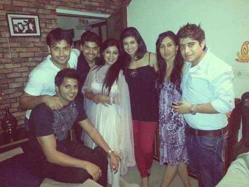 Vivian Dsena with friends