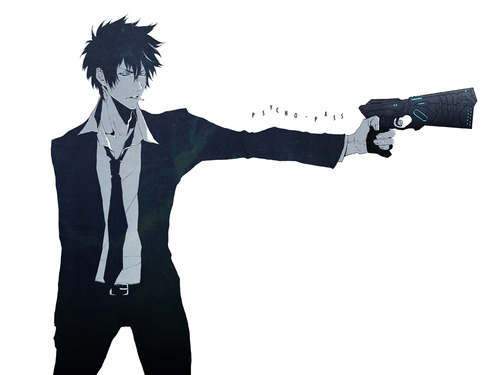 Psycho-Pass 壁紙 containing a well dressed person and an outerwear entitled ^-^
