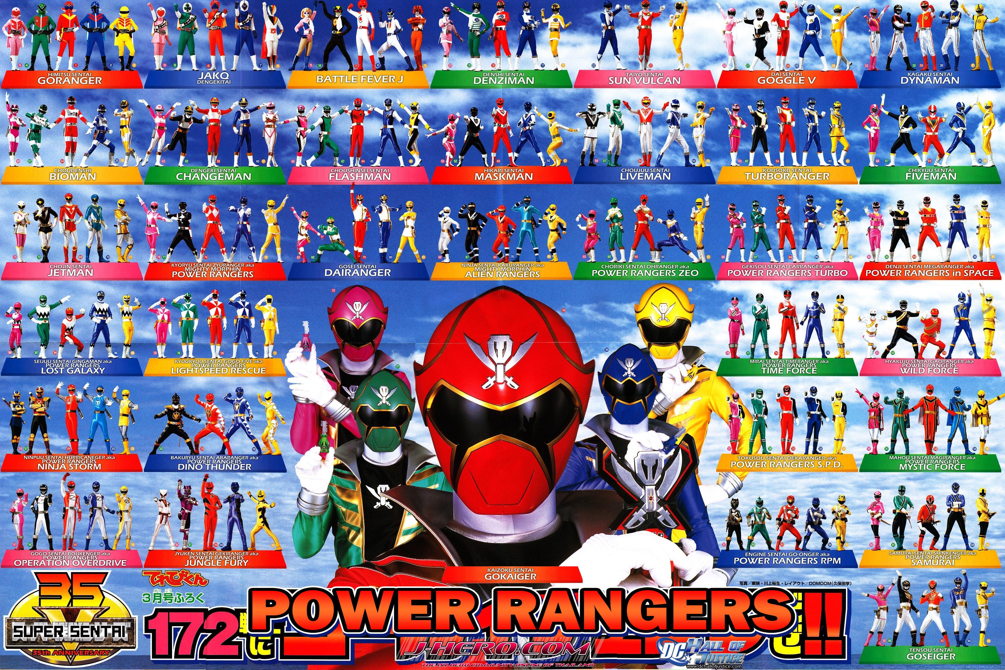 35th anniversary power rangers