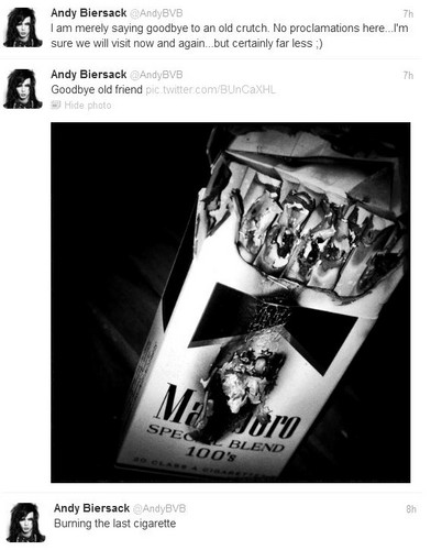 Andy quits smoking:)