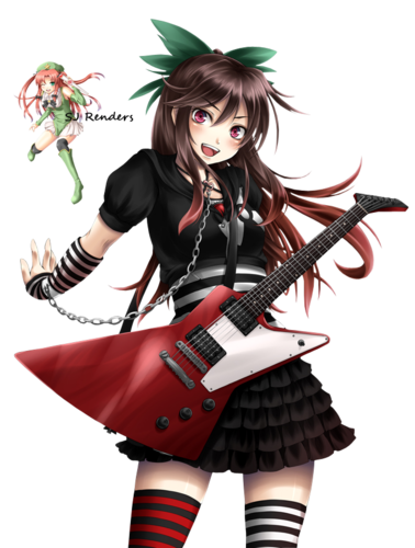 Anime girl guitar