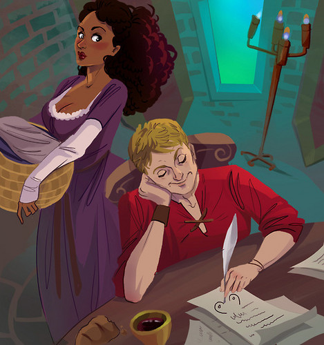 Arthur and Gwen wallpaper with anime titled Arwen...Arthur Doodling (AWESOME) LMAO!