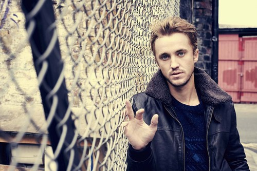 Tom Felton wallpaper with a chainlink fence titled Asos Magazine Photoshoots