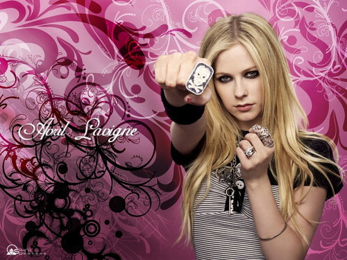 Avril Lavigne wallpaper probably with a parasol, a sign, and a portrait called Avril Lavigne