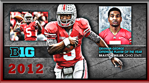 BRAXTON MILLER 2012 B1G OFFENSIVE PLAYER OF THE Jahr