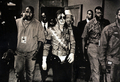 Backstage With His Entourage - michael-jackson photo