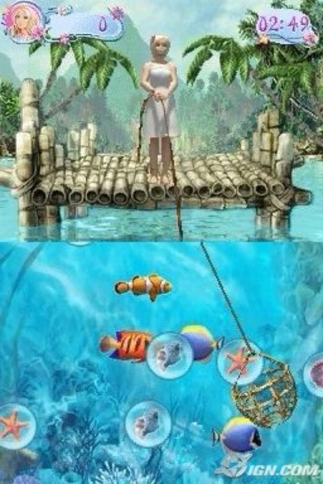 Barbie as the Island Princess - DS game screenshot