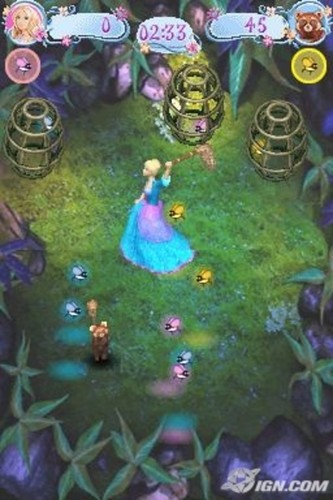 Barbie as the island princess wallpaper entitled Barbie as the Island Princess - DS game screenshot