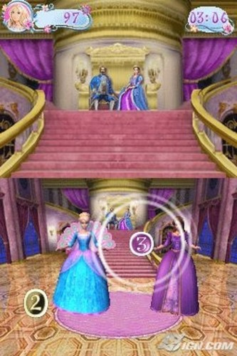 বার্বি as the island princess দেওয়ালপত্র entitled বার্বি as the Island Princess - DS game screenshot