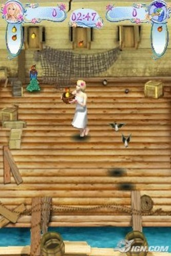 바비 인형 as the Island Princess - DS game screenshot