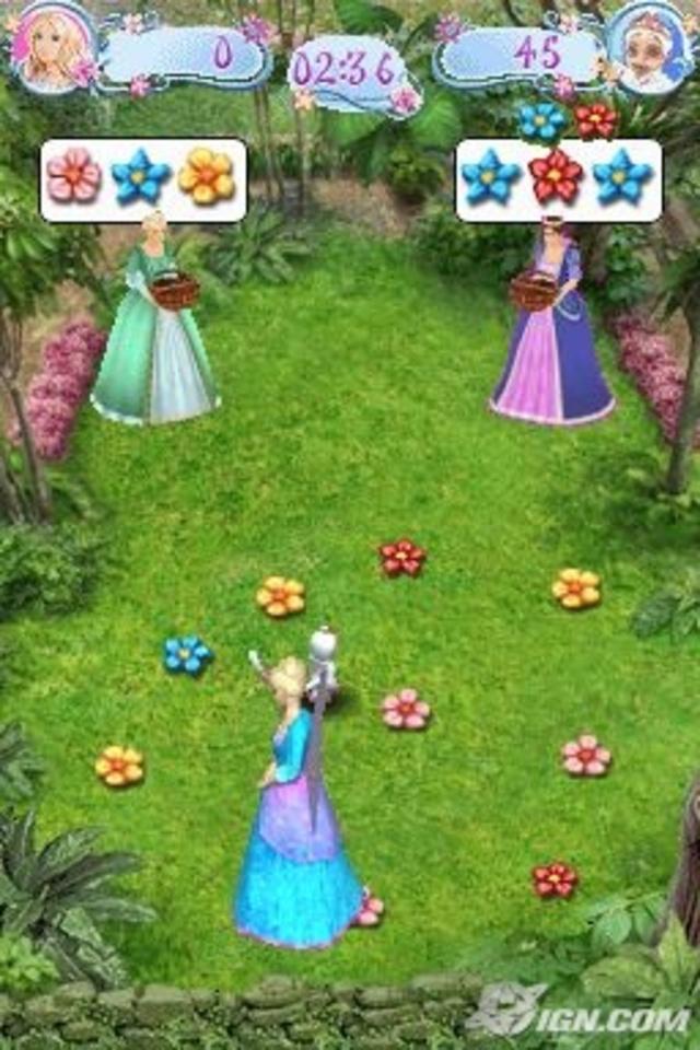 바비 인형 as the Island Princess - DS game screenshot