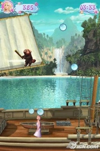 Barbie as the Island Princess - DS game screenshot