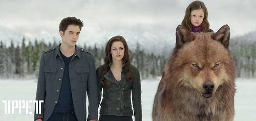 Bella,Edward,Nessie and serigala Jake