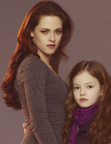 বেলা সোয়ান দেওয়ালপত্র with an outerwear, a well dressed person, and a portrait called Bella and Nessie