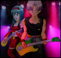 Bra and Trunks play guitar