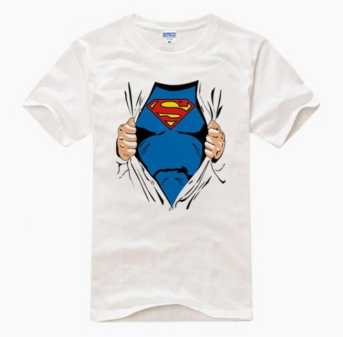 Brand NEW Superman White short sleeve T baju