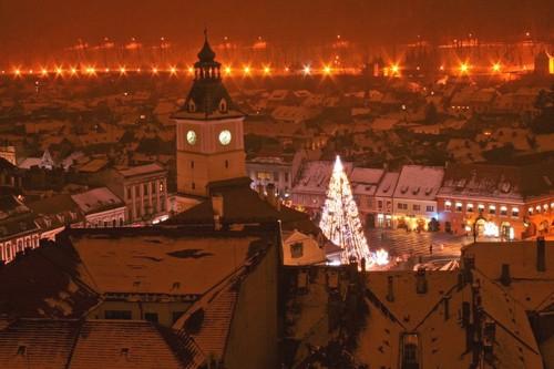 Brasov Romania cities beautiful night landscapes Transylvania scenery romanians