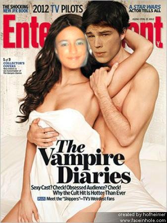 Capa de revista Paula da silva e Josh Hartnett