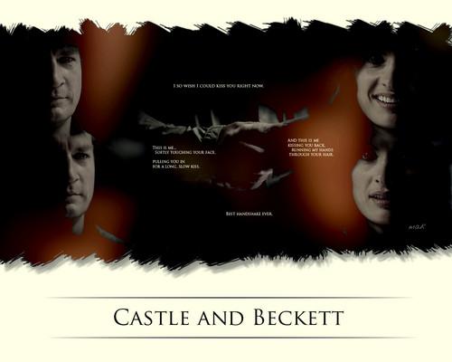 istana, castle and Beckett - BEST HANDSHAKE EVER