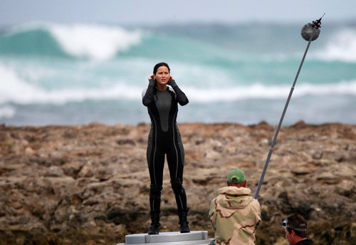 Catching Fire wallpaper entitled Catching Fire shooting in Hawaii