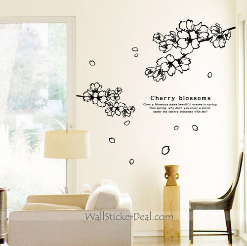 cereza, cerezo Blossoms muro Decals