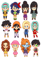 Chibi Dragon Ball Z / GT Ladies - dragon-ball-females fan art