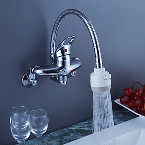 Faucets images Chrome Finish Brass Kitchen Faucet with Flexible ...