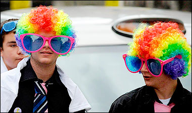 Colourful Wigs