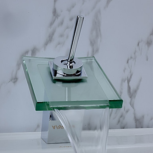 Faucets wallpaper titled Contemporary Waterfall Bathroom Sink Faucet (Chrome Finish)