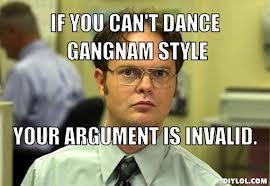 Dancing gangnam stlye!
